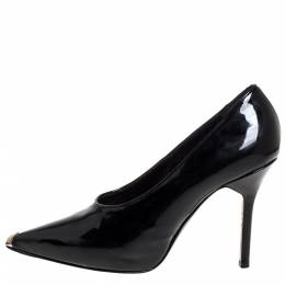 Givenchy Black Patent Leather Pointed Toe Pumps Size 39.5 335393