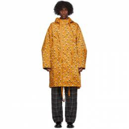 Undercover Orange Printed Rain Coat UCZ4302-1