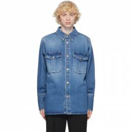Loewe Blue Denim Patch Pocket Shirt H526337XAB