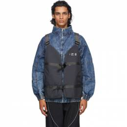 Neighborhood Grey N Cargo Vest 202TQNH-JKM02