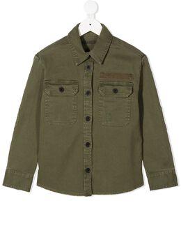 Zadig & Voltaire Kids рубашка Bonnie с накладными карманами WICC0507EVERT