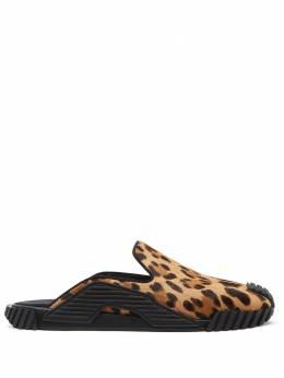 Dolce&Gabbana слиперы NS1 с леопардовым принтом CS1793AX576