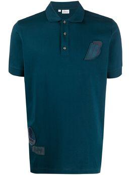 Brioni рубашка поло с нашивкой-логотипом UJ1M0NP3627
