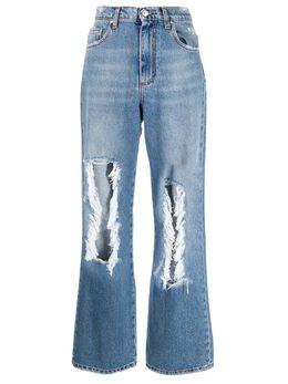MSGM прямые джинсы с эффектом потертости 2942MDP143L207968