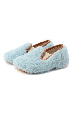 Домашние туфли из меха Gallucci M00003AS/SC P C CRE MCU