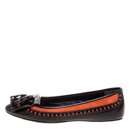 Burberry Brown Brogue Leather Tassel Fringe Ballet Flats Size 38 335721