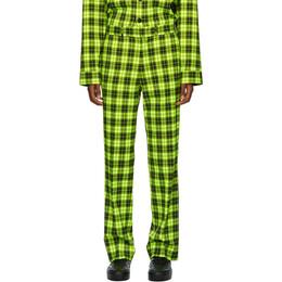 Sankuanz Green Check Trousers SKZM20AW0PA0103-GR