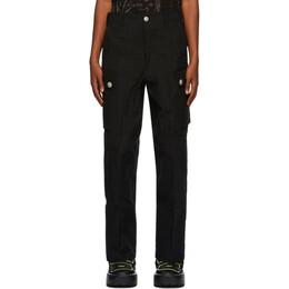 Sankuanz Black Ripstop Cargo Pants SKZM20AW0PA1301-BK