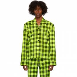 Sankuanz Green Plaid Shirt SKZM20AW0SL0401-GRCK