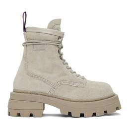 Eytys Beige Suede Michigan Boots MISD