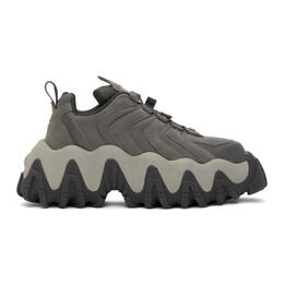 Eytys Grey Nubuck Halo Sneakers HANSG