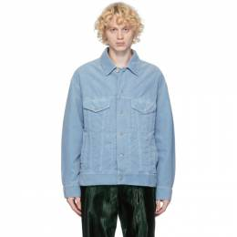 Dries Van Noten Blue Corduroy Jacket 20523-1239-514