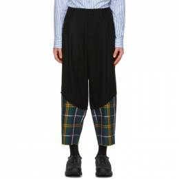 Comme Des Garcons Homme Plus Black and Green Worsted Wool Trousers PF-P040-051