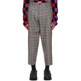 Comme Des Garcons Homme Plus Pink and Green Over Check Trousers PF-P042-051