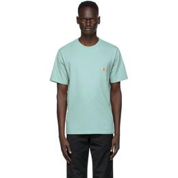Carhartt Work In Progress Green Pocket T-Shirt I022091