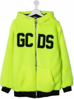 GCDS Kids флисовое худи на молнии 025865