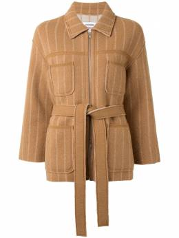 Coohem куртка-рубашка в тонкую полоску с завязками 10204036