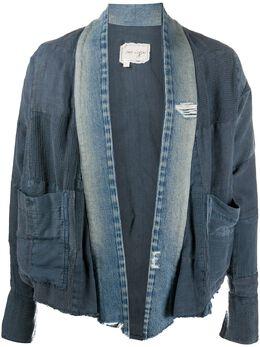 Greg Lauren деконструированная джинсовая куртка AM241