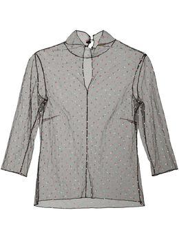 Adam Lippes полупрозрачная блузка F19110PO