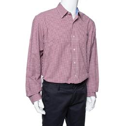 Ralph Lauren Red Gingham Check Cotton Long Sleeve Shirt XL 335879