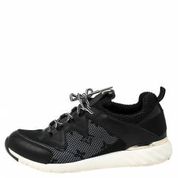 Louis Vuitton Black Monogram Mesh and Leather Aftergame Sneakers Size 37 336004
