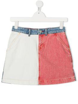 Tommy Hilfiger Junior джинсовая юбка в стиле колор-блок KG0KG05306