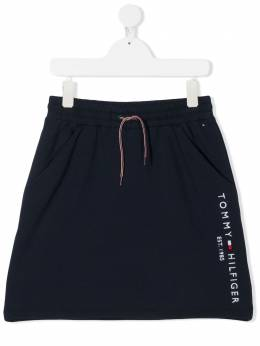 Tommy Hilfiger Junior юбка с поясом на шнурке и логотипом KG0KG05325