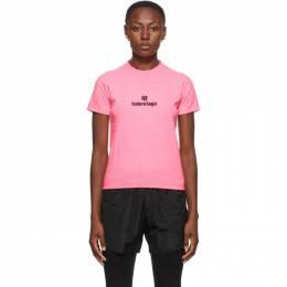 Balenciaga Pink Sponsor Logo T-Shirt 612964-TJVD9