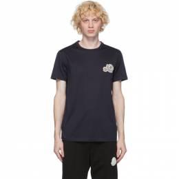 Moncler Navy Logo T-Shirt F20918C781008390Y