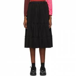 Comme Des Garcons Black Tiered Pleated Mid-Length Skirt GF-S015-051