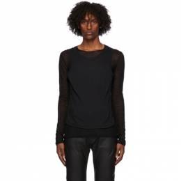 Ann Demeulemeester Black Layered Long Sleeve T-Shirt 2002-3814-220-099