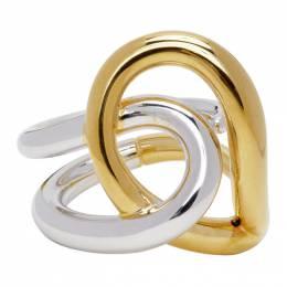 Charlotte Chesnais Gold and Silver Blaue Ring 19BA030VEAR