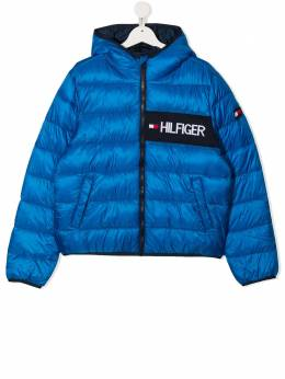 Tommy Hilfiger Junior пуховик с логотипом KB0KB05884