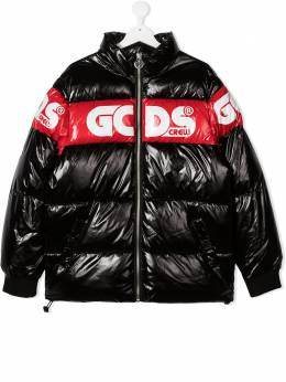 GCDS Kids пуховик с логотипом 025754