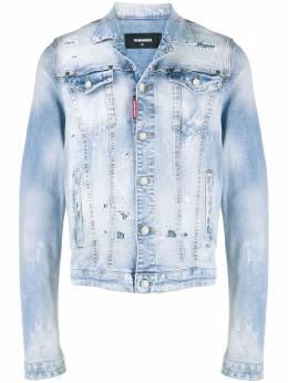 Dsquared2 джинсовая куртка с эффектом потертости S71AN0231S30665