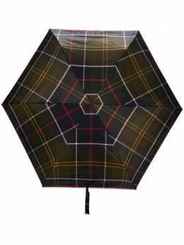 Barbour маленький зонт в клетку тартан UAC0201