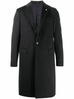 Lardini однобортное пальто строгого кроя IM23648AEIMC55606