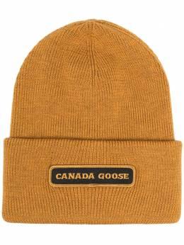 Canada Goose шапка бини с нашивкой-логотипом 5023M