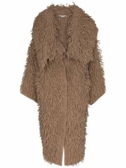Stella McCartney фактурное пальто с объемным воротником 602167S2226
