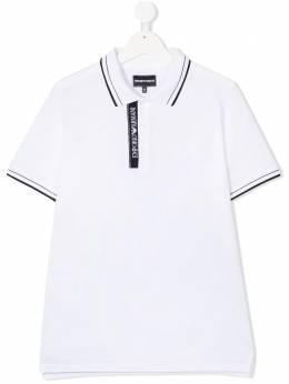Emporio Armani Kids рубашка поло с контрастными полосками 6H4F791JRN0100