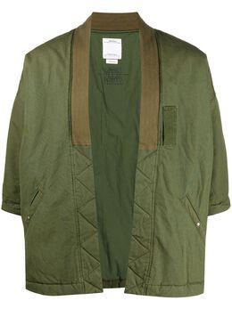 Visvim куртка без застежки с короткими рукавами 0120205013016