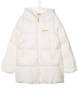 Moschino Kids куртка-пуховик с нашивкой Teddy Bear и вышивкой HDS02WL3A22