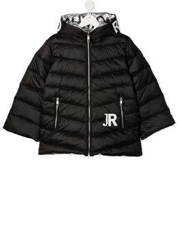 John Richmond Junior стеганая куртка с капюшоном и логотипом RGA20304PI