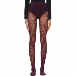 Dries Van Noten Purple Fogal Edition Lace Tights TIGHTS202/001