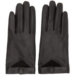 Mackage Black Lambskin Gabia Gloves Gabia-R
