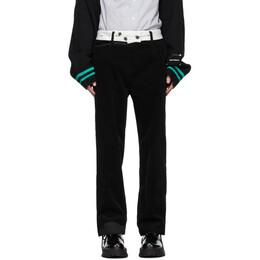 Ader Error Black Baus Trousers BTAFWPT12BK