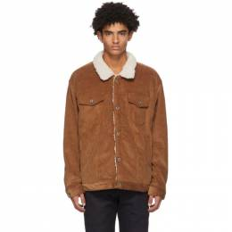 Naked And Famous Denim SSENSE Exclusive Brown Sherpa Oversized Jacket 160802362