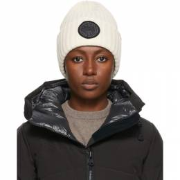 Canada Goose White Black Label Disc Rib Beanie 5028MB