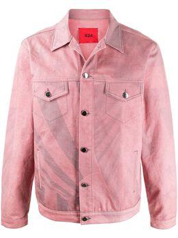 424 джинсовая куртка с принтом 424CPSS200017
