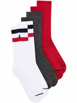 Polo Ralph Lauren комплект из трех пар носков с вышитым логотипом 449742791002
